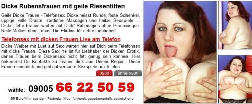 Dicke Frauen Telefonsex - Dicke Weiber