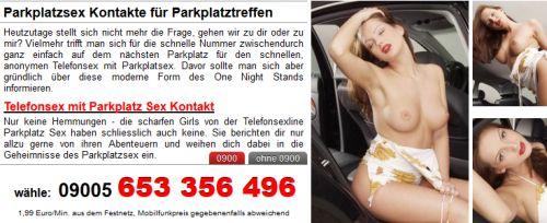 parkplatzsex sexkontakte